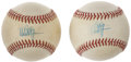 Autographs:Baseballs, Mark McGwire Single Signed Baseballs Lot of 2....