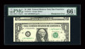 Error Notes:Miscellaneous Errors, Fr. 1913-L $1 1985 Federal Reserve Note. PMG Gem Uncirculated 66 EPQ.. ...