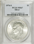 Eisenhower Dollars: , 1976-S $1 Silver MS67 PCGS. PCGS Population (2434/337). NGC Census: (334/63). Mintage: 11,000,000. Numismedia Wsl. Price fo...