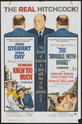 """Movie Posters:Hitchcock, The Man Who Knew Too Much/The Trouble With Harry Combo (Paramount,R-1963). One Sheet (27"""" X 41""""). Hitchcock...."""