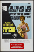 "Movie Posters:Hitchcock, Psycho (Universal, R-1969). One Sheet (27"" X 41""). Hitchcock...."