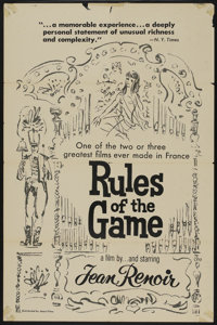 """Rules of the Game (Janus Films, R-1960s). One Sheet (27"""" X 41""""). Comedy"""
