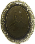 Political:3D & Other Display (pre-1896), Grover Cleveland: Oval Portrait Plate. . ...