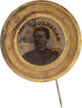 Political:Ferrotypes / Photo Badges (pre-1896), George B. McClellan: Ferrotype Pin....
