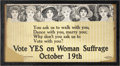 Political:Miscellaneous Political, Woman's Suffrage: Great New Jersey Pro-Suffrage Trolley Sign....