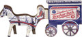 Antiques:Toys, Cracker Jack Tin Wagon Prize....