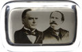 Political:3D & Other Display (pre-1896), McKinley & Hobart: Jugate Glass Paperweight....