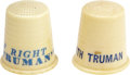 Political:Advertising, Harry S Truman: Two Campaign Thimbles.... (Total: 2 Items)