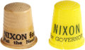 Political:Advertising, Richard Nixon: Two Campaign Thimbles.. ... (Total: 2 Items)