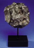 Meteorites:Irons, CANYON DIABLO - NATURAL, PRIMITIVE TABLETOP. SCULPTURE FROM THE BEST PRESERVED METEORITE. CRATER ON EARTH. ...