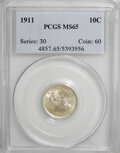 Barber Dimes: , 1911 10C MS65 PCGS. PCGS Population (115/83). NGC Census: (118/61).Mintage: 18,870,544. Numismedia Wsl. Price for NGC/PCGS...