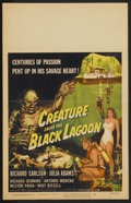 "Movie Posters:Horror, Creature From the Black Lagoon (Universal International, 1954).Window Card (14"" X 22""). Horror...."
