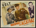 "Movie Posters:Action, Passport to Alcatraz Lot (Columbia, 1940). Title Lobby Cards (3) and Lobby Cards (5) (11"" X 14""). Action.... (Total: 8 Items)"