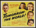 "Movie Posters:Drama, Tomorrow--the World! Lot (United Artists, 1944). Title Lobby Card and Lobby Cards (7) (11"" X 14""). Drama.... (Total: 8 Items)"
