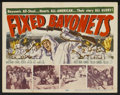 """Movie Posters:War, Fixed Bayonets! Lot (20th Century Fox, 1951). Title Lobby Cards (2)and Lobby Card (11"""" X 14""""). War.... (Total: 3 Items)"""