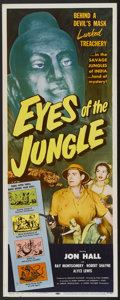 "Movie Posters:Adventure, Eyes of the Jungle (Lippert, 1953). Insert (14"" X 36""). Adventure....."