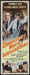 "Movie Posters:Drama, Counterspy Meets Scotland Yard (Columbia, 1950). Insert (14"" X 36""). Drama...."