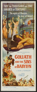 "Movie Posters:Adventure, Goliath and the Sins of Babylon (American International, 1964).Insert (14"" X 36""). Adventure...."