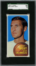 Basketball Cards:Singles (1970-1979), 1970-71 Topps Jerry West #160 SGC 84 NM 7....