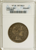 1893-O 50C --Cleaned--ANACS. VF20 Details. NGC Census: (2/141). PCGS Population (1/170). Mintage: 1,389,000. Numismedia...