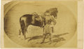 Military & Patriotic:Civil War, Colonel Langhorne Wister Carte de Visite Pictured with his Horse. A horizontally-oriented CDV photo of Wister in fu...