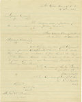 Military & Patriotic:Civil War, Confederate General William Mahone's Personal Copy of the April 10, 1865 Special Order Providing for Safe Passage of Confedera...