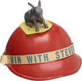 Political:Advertising, Adlai Stevenson: Plastic Campaign Hat with Nodding Donkey....