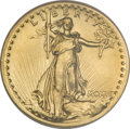 High Relief Double Eagles, 1907 $20 High Relief, Wire Rim--Rim Filed--NCS. Unc. Details....