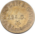 Territorial Gold, (1837-42) $5 C. Bechtler Five Dollar, 134G, With Star AU50 NGC....