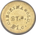 Territorial Gold, (1842-52) G$1 A. Bechtler Dollar, 27G. 21C., Plain Edge MS61NGC....