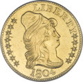 Early Half Eagles, 1804 $5 Small 8 Over Large 8--Improperly Cleaned--NCS. Unc.Details....