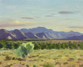 Western:20th Century, HARRY LEITH-ROSS (American, 1886-1973). Pinto Hill. Oil on artist's board. 8-1/4 x 10-1/2 inches (21.0 x 26.7 cm). Signe...