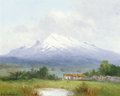 Paintings, PROPERTY FROM THE DUFFY AND TINA OYSTER FOUNDATION. PORFIRIO SALINAS (American, 1910-1973). Landscape with Snowcapped Mo...