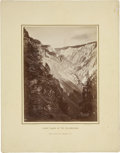 "Photography:Cabinet Photos, W. H. Jackson, Imperial Albumen Print, ""Grand Cañon [Canyon] of theYellowstone"", image 6.75"" x 8.75"" (11"" x 14"" overall). T..."