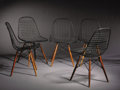 Furniture , CHARLES AND RAY EAMES. A Set of Five PKW Side Chairs, manufactured by Herman Miller USA, circa 1951. 31-1/2 x 18-1/2 x 16-1/... (Total: 5 Items)