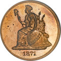 Patterns, 1871 50C Half Dollar, Judd-1109, Pollock-1245, R.7, PR64 Red CameoNGC....