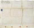 "Autographs:Non-American, [George III] Indenture. One page with docketing on the verso, 35"" x28.5"", June 4, 1775, Christ Church Parrish, Surrey, Engl..."
