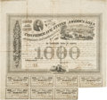 "Miscellaneous:Ephemera, Confederate States of America $1,000 Loan Bond. One page, 15"" x14"", March 2, 1863, Richmond, with seven $40 coupons (some c..."
