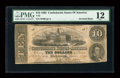 Confederate Notes:1862 Issues, T52 PF-21IB Cr. 375IB $10 1862 Inverted Back. . ...