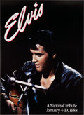 Music Memorabilia:Autographs and Signed Items, Elvis Presley National Tribute Autographed Poster (1988)....