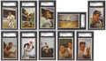 Baseball Cards:Sets, 1953 Bowman Color Baseball Partial Set (142/160)....