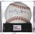 Autographs:Baseballs, Whitey Ford Single Signed Baseball, PSA Mint+ 9.5...