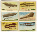Memorabilia:Trading Cards, Airships Trading Cards Group (Philadelphia Caramel Co., 1912)....(Total: 9 Items)