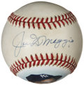 Autographs:Baseballs, Joe DiMaggio Single Signed Portrait Baseball....