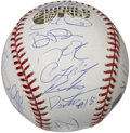 Autographs:Baseballs, 2007 Boston Red Sox World Champion Team Signed Baseball....