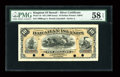 Large Size:Demand Notes, Hawaiian Islands $10 Silver Certificate (1880) Pick 1b PMG ChoiceAbout Unc 58 EPQ....