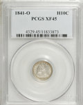 Seated Half Dimes: , 1841-O H10C XF45 PCGS. PCGS Population (5/24). NGC Census: (2/29).Mintage: 815,000. Numismedia Wsl. Price for NGC/PCGS coi...