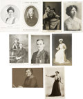 Political:Miscellaneous Political, Woman's Suffrage: Lot of Nine English Suffrage Leader Postcards....(Total: 9 Items)