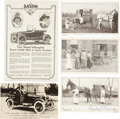 Political:Miscellaneous Political, Woman's Suffrage: Saxon Car Postcard and Ad along with Three Wagon Cards.... (Total: 4 Items)