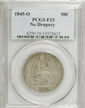 Seated Half Dollars: , 1845-O 50C No Drapery F15 PCGS. PCGS Population (1/20). NGC Census:(0/14). Numismedia Wsl. Price for NGC/PCGS coin in F15...